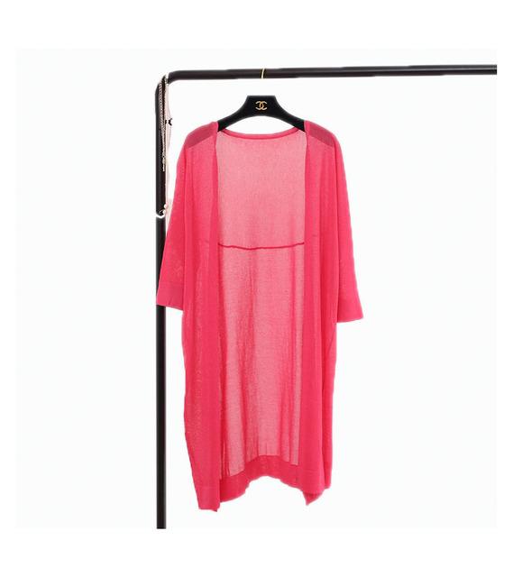 Flash de la primavera y el verano flojo chaqueta estilo básico del suéter de las mujeres de seda de manga larga camisa del sol del aire acondicionado de la camisa venta al por mayor