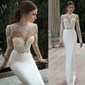 2016 Новый Горячий Продавать На Заказ Свадебные Платья Vestido де Noiva Casamento Robe De Mariage Русалка Кружева Спинки Пояса