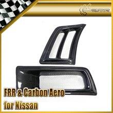ЭПР Стайлинга Автомобилей Для Nissan Skyline R34 GTR Углеродного Волокна ВЕЛИКОБРИТАНИИ V-Spec Переднего Бампера Vent Воздуховод