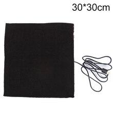 1 шт 5V 30x30 см USB нагретой куртки пальто жилет аксессуары из углеродного волокна с подогревом колодки теплая сзади на шее быстронагревающимися