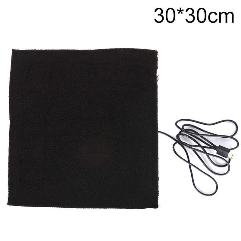 1 шт., 5 В, 30x30 см, USB куртка с подогревом, пальто, аксессуары для жилетов из углеродного волокна с подогревом, теплые накладки на шею, Быстрое нагревание