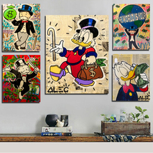 Alec Monopoly Canvas Painting Prints Wall Pictures For Living Room Home Decor Modern Art Oil Posters