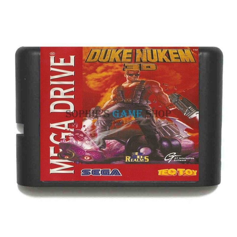 Duke Nukem 3D Game Cartridge Newest 16 bit Game Card For Sega Mega Drive / Genesis System