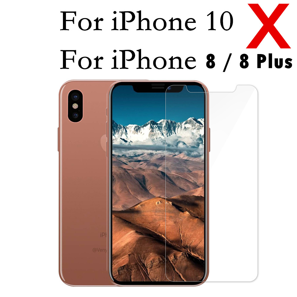 Tempered Glass For Apple iPhone 8 plus X Case Screen Protector on I Phoen 10 Dual Sim Film Cover GLAS Sklo Fundas 9H Guard Verre