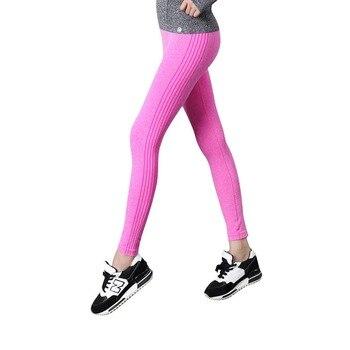 Женские спортивные быстросохнущие эластичные леггинсы для занятия йогой, с завышенной ...