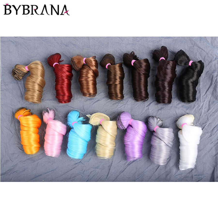 Bybrana 30cm*100cm And 15cm*100cm Bjd Wig Long Curly SD DIY Hair With Dolls Free Shipping