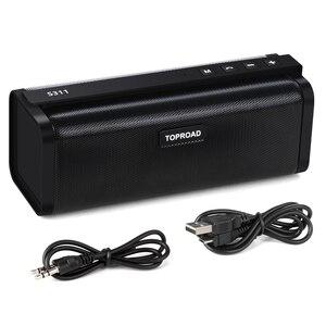 Image 5 - TOPROAD ポータブル 10 ワット Bluetooth スピーカー Hifi ワイヤレスステレオビッグパワーサウンドボックスサブウーファー列スピーカーサポート TF FM ラジオ AUX