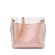 Mini Bags For Women Bucket Phone Bag Jelly Transparent Package Women's PU Leather Square Crossbody Handbags Ladies Pouch transparent bucket bag and pouch bag