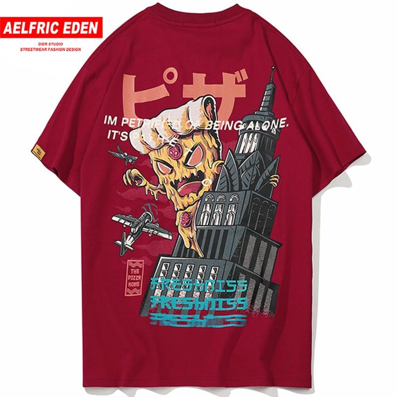 Aelfric Eden Creative 3d Cartoon Letter Printed Short Sleeve   T  -  shirt   2018 Hip Hop Streetwear   T     Shirts   Men Casual Tops Tees Fs07
