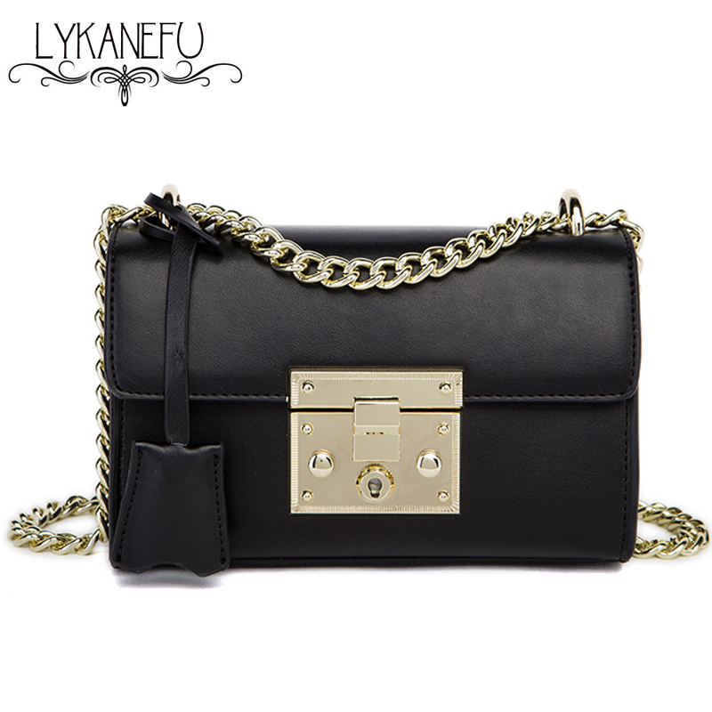 2017 Chain Lock Small Flap Bag Summer Women Messenger Bags PU Material Women's Handbags Shoulder Bag Female Purse Phone Bolsas  2016 summer new fashion female bag embossed quality pu leather women bag handbag chain lock shoulder messenger small bag mini