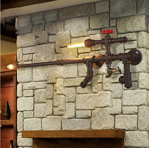 Loft Vintage Edison Gun Wall Lights , Colours Personalized ...