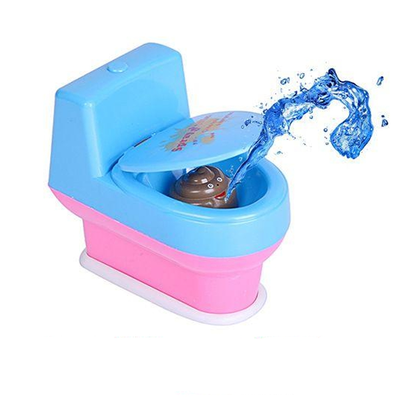 Halloween Gift Mini Prank Squirt Spray Water Toilet Shooting Closestool Toy Funny For Kids Childrens Spoof Tricky Toys