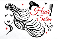 Salon Girl Vinyl Wall Sticker Woman Face Comb Sccisors Mural Wall Decal Beauty Salon Hair Salon Sticker Hair Shop Decoration