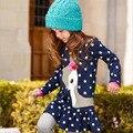 Детская одежда осень девочка Футболка с длинными рукавами топ брюки ребенок Мультфильм dot design украшения весной и осенью