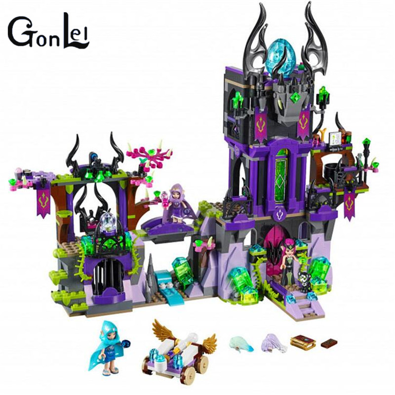 (GonLeI)10551 Building Block Compatible with Elves Laguna Dark Magic Castle 41180 Fairy Figure Educational Toys for Children