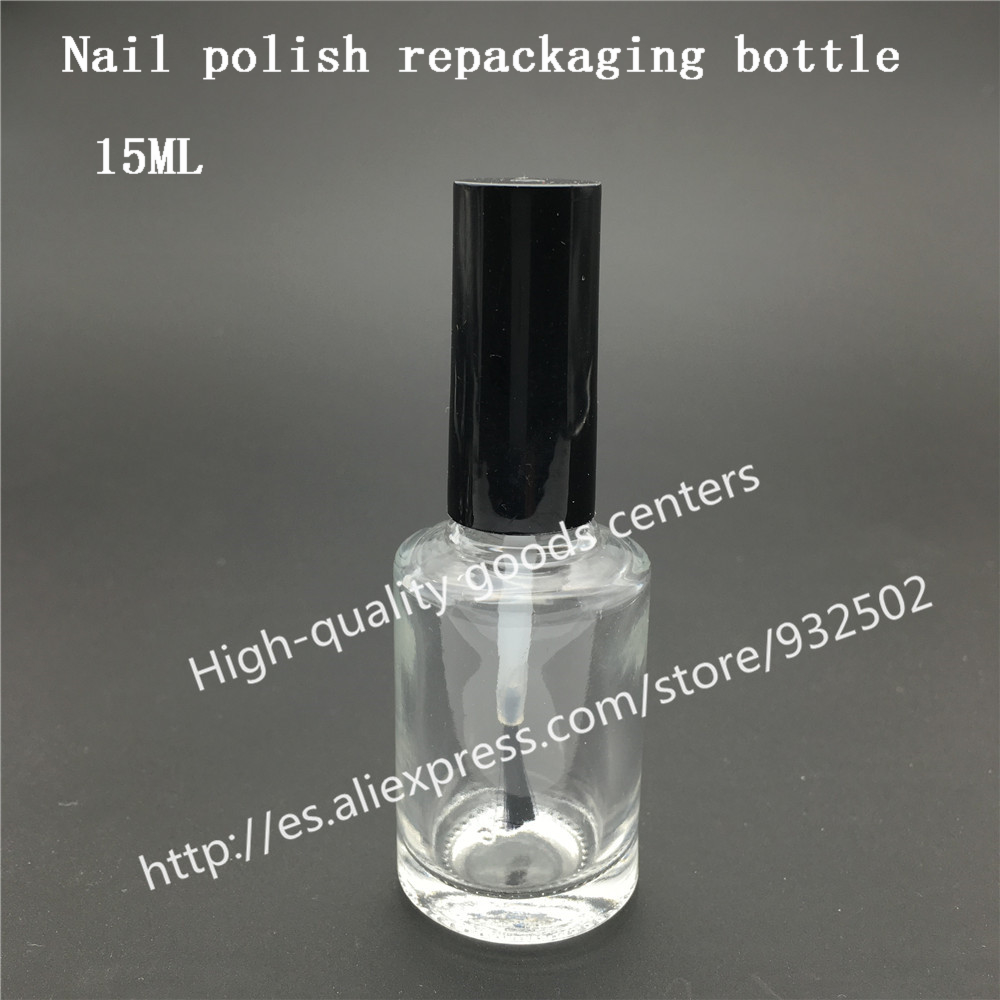 Free Shipping 500pcs 15ml Square nail polish bottle with black lid 15cc Small Glass Nail Polish