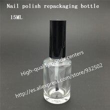 Бесплатная доставка 500 шт 15 мл квадратный лак для ногтей бутылка с черной крышкой, 15cc Маленький Стеклянный лак для ногтей бутылка