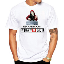 Men T shirt Funny Design La Casa De Papel T Shirt Money Heist Tees TV Series Tshirts Men Short Sleeve House of Paper T-Shirt
