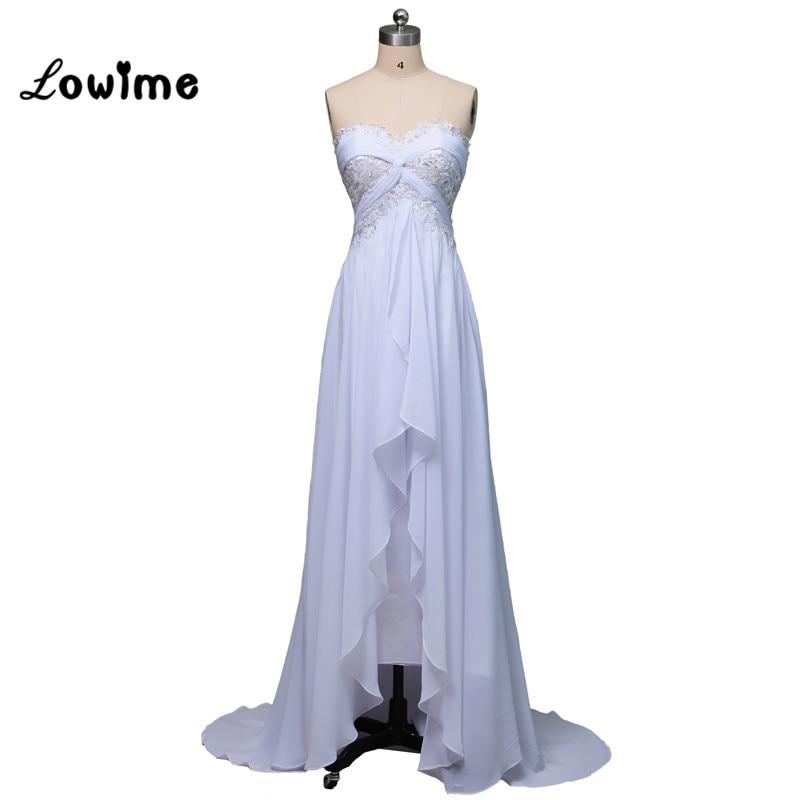 白い夏シフォンビーチウェディングドレス安い恋人vestidoデnoivaアリババ中国ウェディングドレスローブマリアージュ