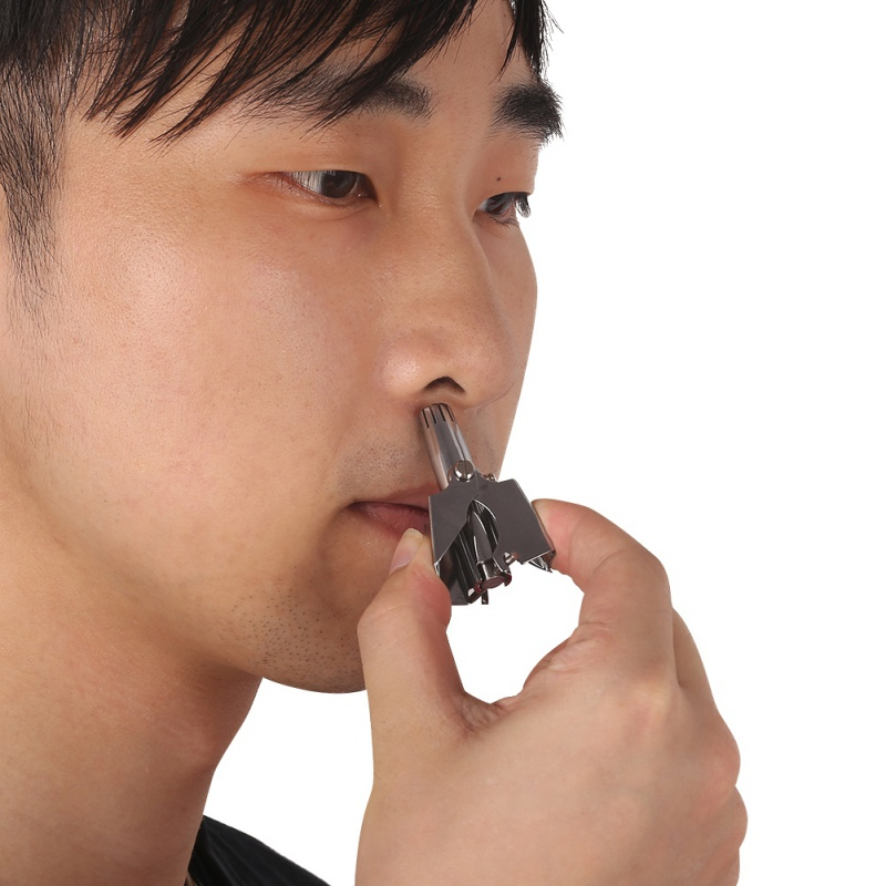 Stainless Steel Manual Washing Nose Trimmer Device Mechanical Nose Hair Trimmer Shaving Hair Removal Tool Karachi