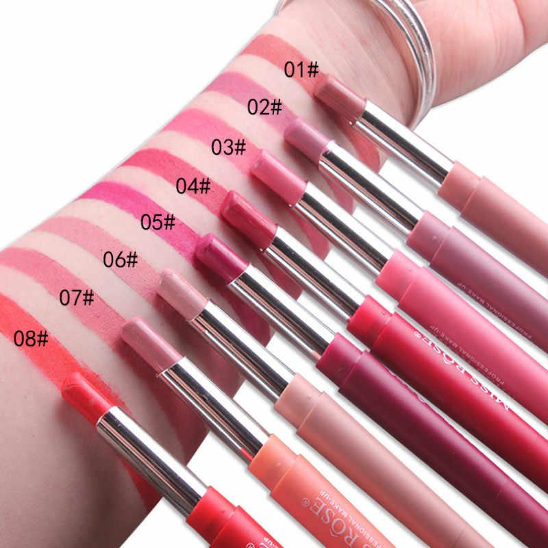 Wysokiej klasy makijaż BulleLip kredka szminka wargi uroda makijaż wodoodporny Nude kosmetyki kolorowe Lipliner Pen Party sztyft do ust U2