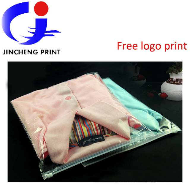 Ordinaire Wholesale Clear Plastic Packing Zipper Bags Custom Logo Print For T Shirt /clothes/