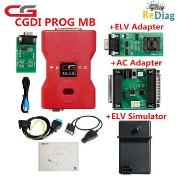 CGDI Prog MB For Benz Car Key Programmer Add Fastest for Benz Support All Key Lost via OBD Ket Matching Add ELV Repair Adapter