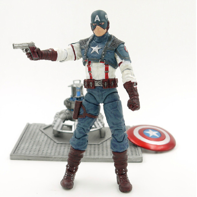 Marvel Select The Captain America 1st Avengers 7inch Movie Figures Toy Action PVC Figure Doll Toys lepin 02012 city deepwater exploration vessel 60095 building blocks policeman toys children compatible with lego gift kid sets