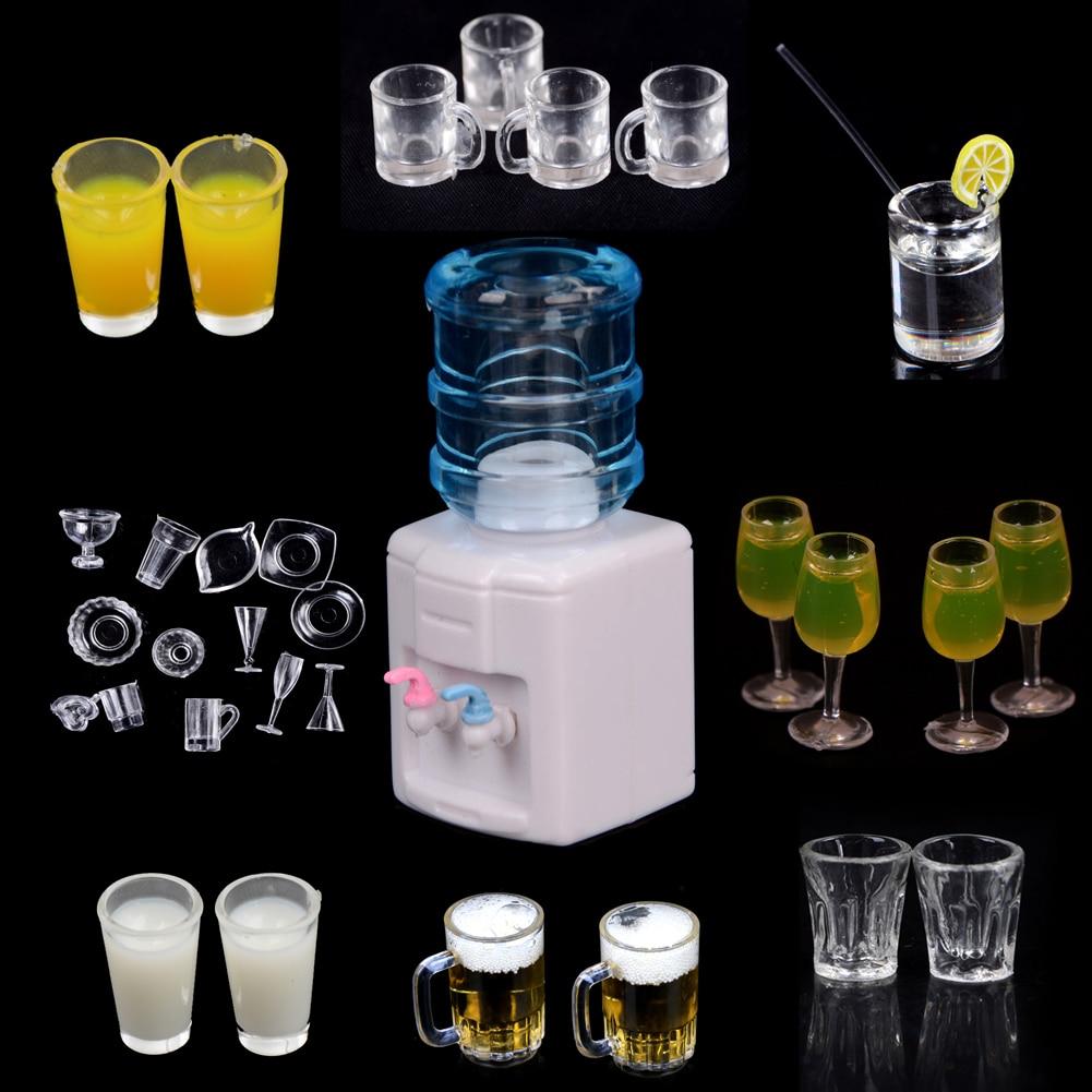 Dollhouse Miniature Glass Milk Bottles or Bud Vases Set of 2 1:12 Scale