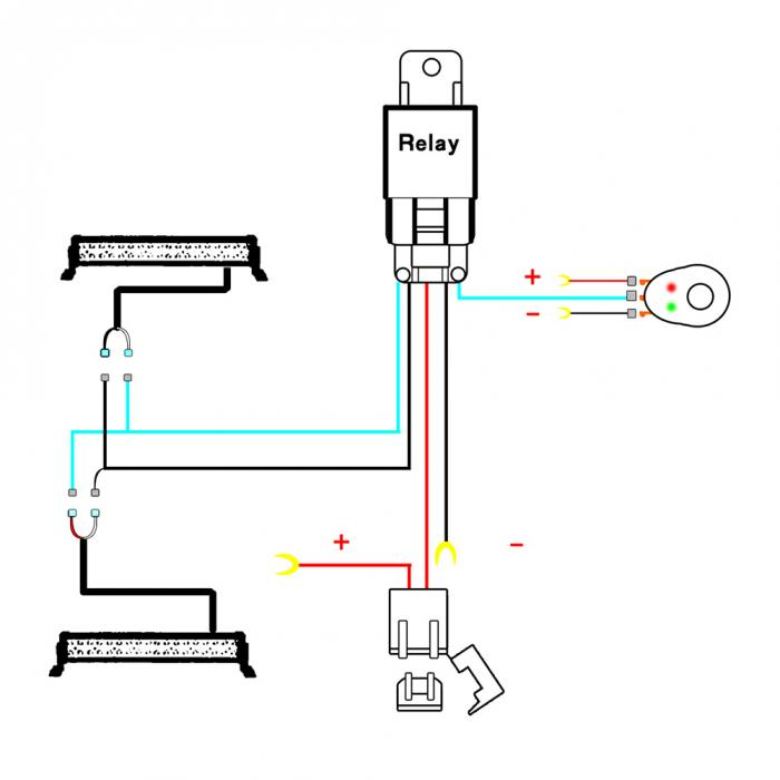 [SCHEMATICS_4HG]  Hot Wiring Harness Wire Switch Relay Kit for Connect Work Driving LED Light  Bar Car Spotlight BX|Light Bar/Work Light| - AliExpress | 24v Spotlight Wiring Diagram |  | www.aliexpress.com