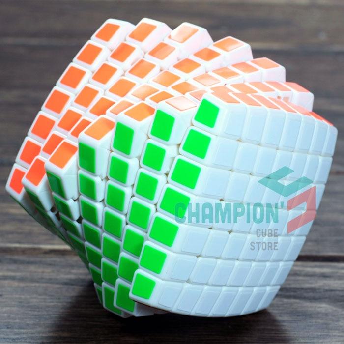 MoYu 7x7x7 Aofu Puzzle Cube Magic Black And White And Primary Educational Cubo magico Toys singular bulbs magic props white silver black