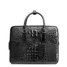 BVP Men Luxury Gift Top Level Super Designer Business Men Crocodile Leather Brifecases Black (alligator Laptop Man Bag) J10