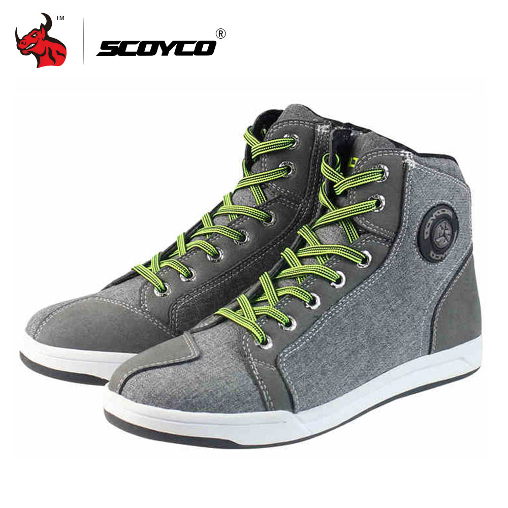 SCOYCO Мотоциклдер Ерлер Road Street Casual Shoes Bato Motocross етік Breathable Moto Protective Gear Flax Microfiber