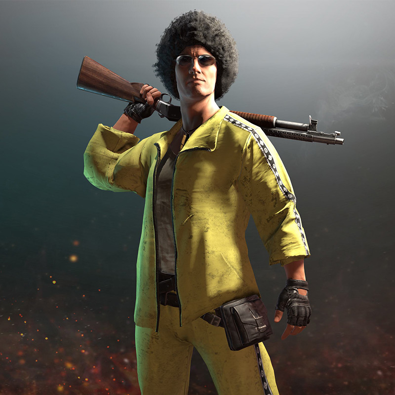 PUBG Playerunknown's Battlegrounds Cosplay Costume Coat Yellow Sportswear Suits Jacket coat+pants