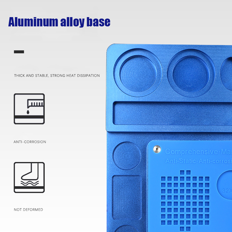 Mecánico de aleación de aluminio de Multi función de reparación de microscopio Base de reparación de teléfono móvil de la plataforma de mantenimiento - 4