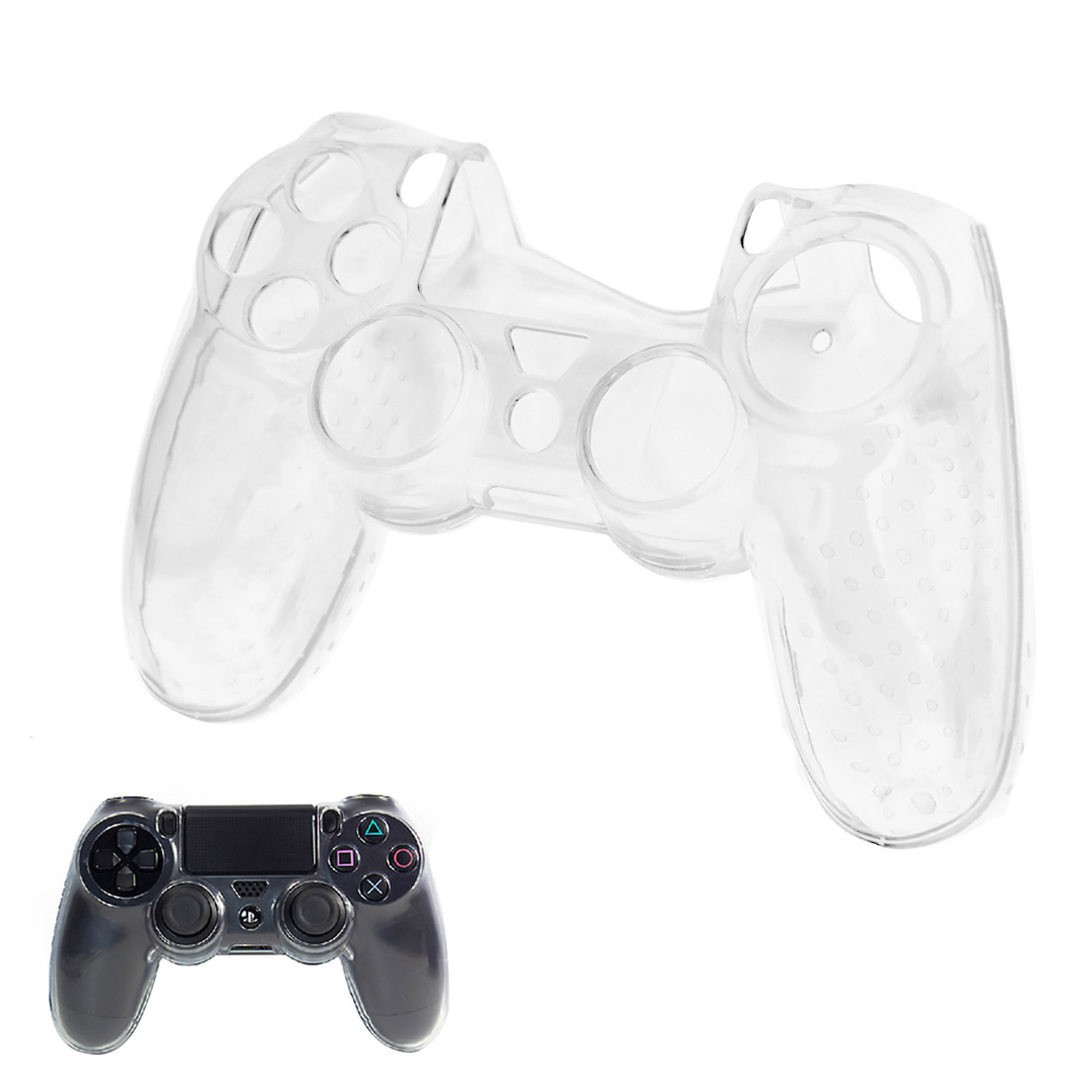 Bevigac Clear Hard Case Protective Cover Skin Shell for Sony Playstation PS4 Play Station PS 4 Console Controller Gamepad Joypad