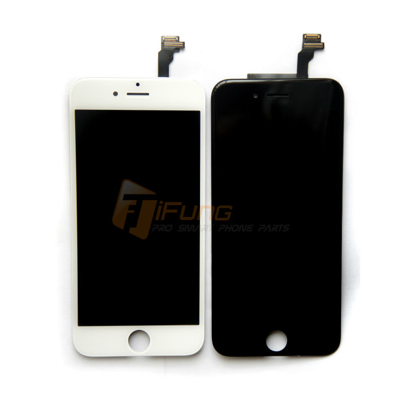 Free DHL 10PCS/LOT TIANMA Test One By One 4.7 inch For iPhone 6 LCD Complete Display Screen With Great Glass Black/White Color