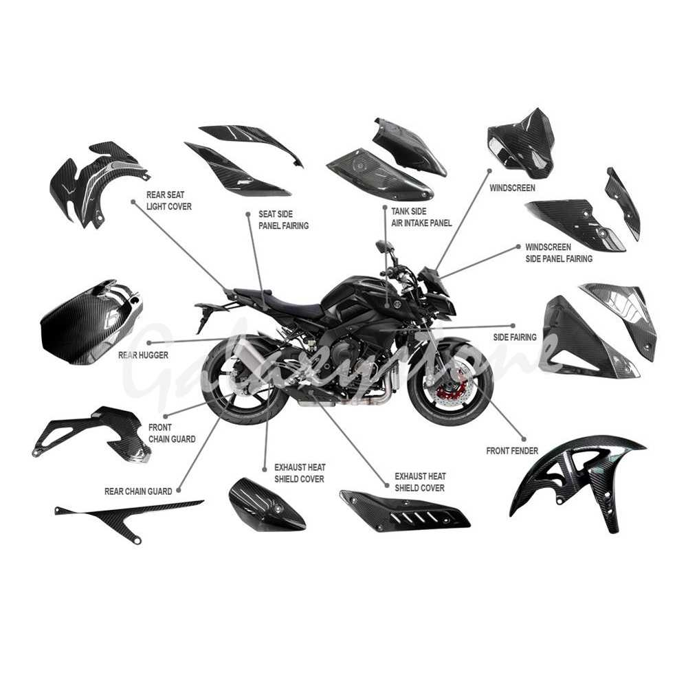 3 K Twill Carbon Fiber For Yamaha Mt10 2016 2017 2018 Whole