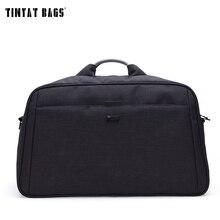 Tinyat Для мужчин большой саквояж Бизнес Стиль Duffle нейлон функциональная ручка и дорожная сумка 40L T305 Черный, серый цвет