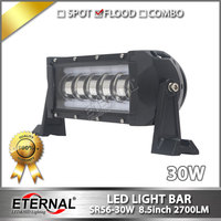 6pcs 8 5inch 30W Led Light Bar Offroad Truck 4x4 Vehicles Equipment Trailer Pick Up Military