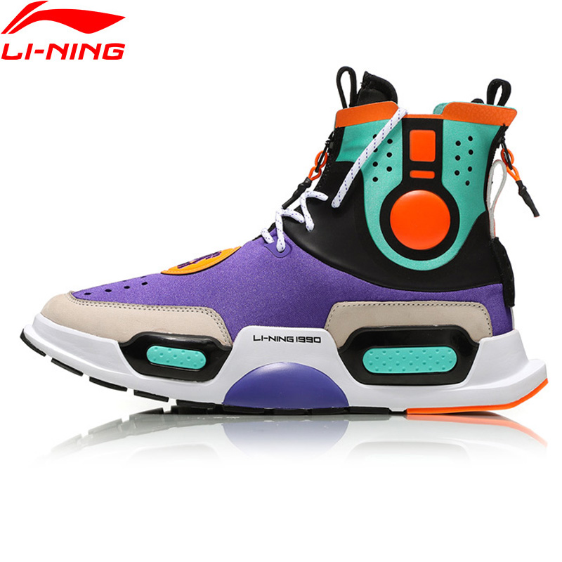 Li Ning NYFW Unisex 'REBURN' Basketball Culture Shoes Wearable LiNing Comfort Sports Shoes Sneakers AGBN052 XYL170