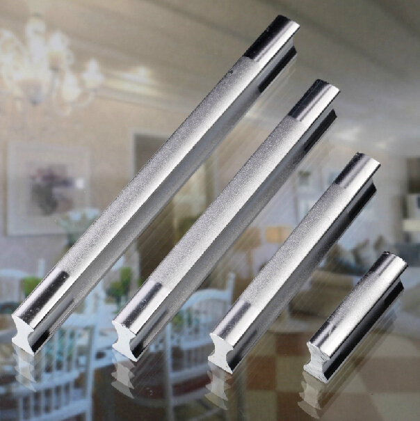 Top Quality New Fashion Design Aluminium Twotone Cabinet Handle Covert Handle  Kitchen Cabinet Handles