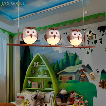 New Cartoon Chandelier Child Eye Care Lamp Boy Girl Room Warm Creative Cute Owl Bedroom Light Kids Room Decoration Pendant Lamp