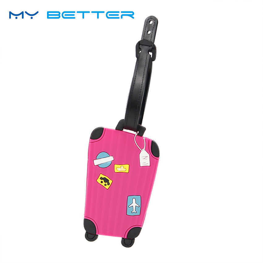 Luggage Tags for Travel Candy Color English Letter Luggage Label Strap Suitcase Name ID Address Tags Luggage Tags