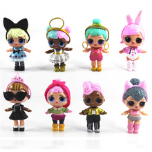 8pcs set 8 9CM LOL SURPRISE DOLL Baby Doll Surpresa Figure lol Doll King Micro Toy