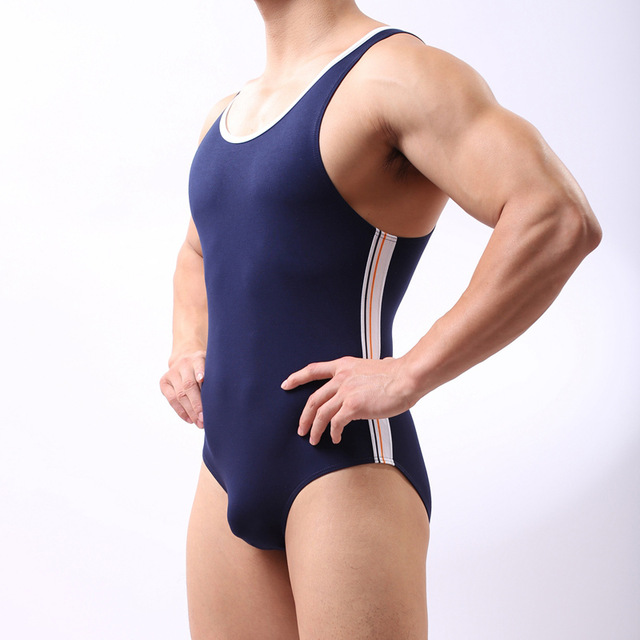 Men Sexy Fitness Bodybuilding Tummy tucker Bodysuit