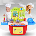 Kids Kitchen Playset Gift Toddler Plastic Cooking Toy Pretend Playing Children Kitchen Toys