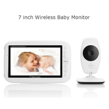 BabyKam Infant Wireless Baby Monitor Night Vision Intercom 7.0 inch Display Video Babysitter Temperature Radio Nanny Baby Camera