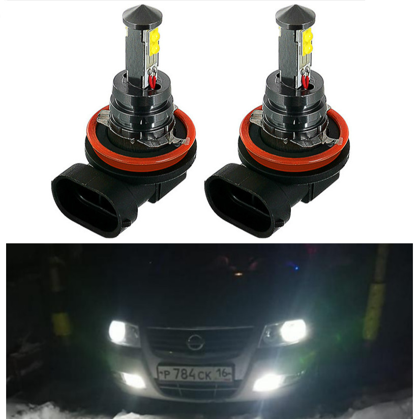 2pcs <font><b>LED</b></font> Car Fog Light H8 Driving Running Lights lamp For <font><b>Nissan</b></font> Qashqai j11 Juke <font><b>X</b></font>-<font><b>trail</b></font> <font><b>T32</b></font> Tiida Note Almera Primera Teana image