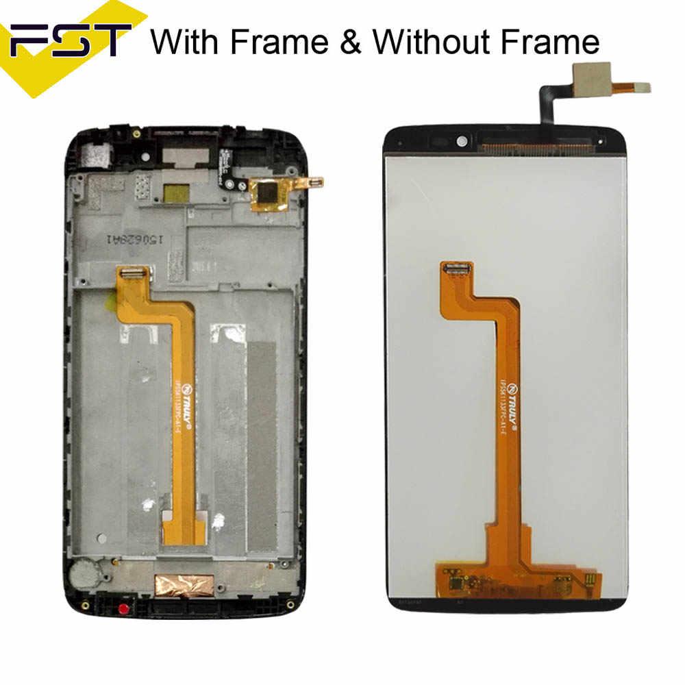"""100% тест для 5,5 """"Alcatel One Touch Idol 3 6045 OT6045 ЖК-дисплей кодирующий преобразователь сенсорного экрана в сборе с рамкой запасные части + Инструменты"""